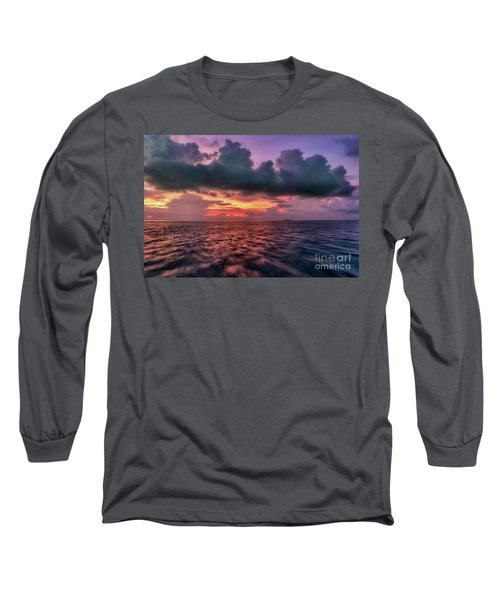 Long Sleeve T-Shirt featuring the photograph Cebu Straits Sunset by Adrian Evans
