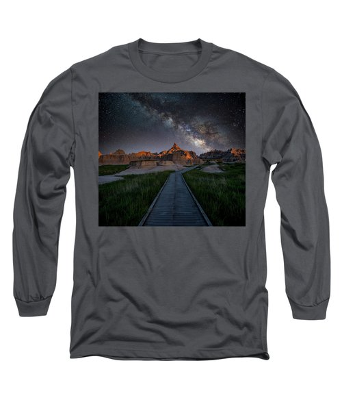 Long Sleeve T-Shirt featuring the photograph Cedar Pass Milky Way by Darren White