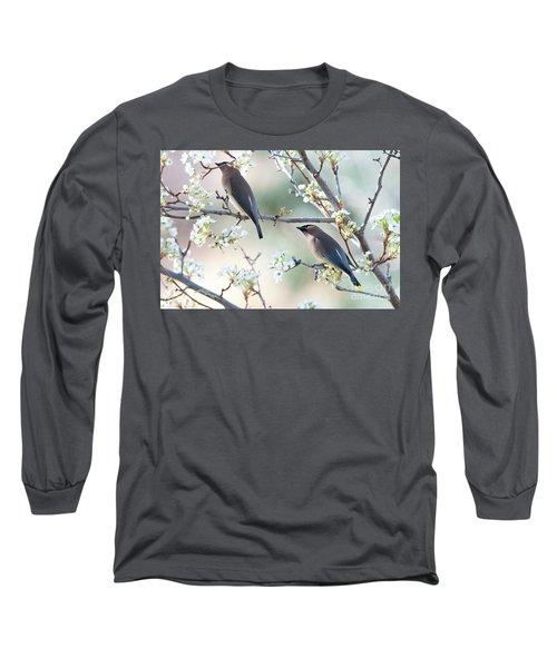 Cedar Wax Wing Pair Long Sleeve T-Shirt