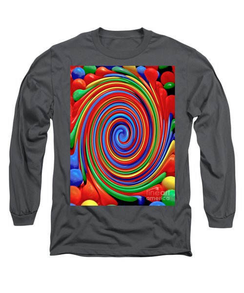 Celebrate Life And Have A Swirl Long Sleeve T-Shirt by Carol F Austin