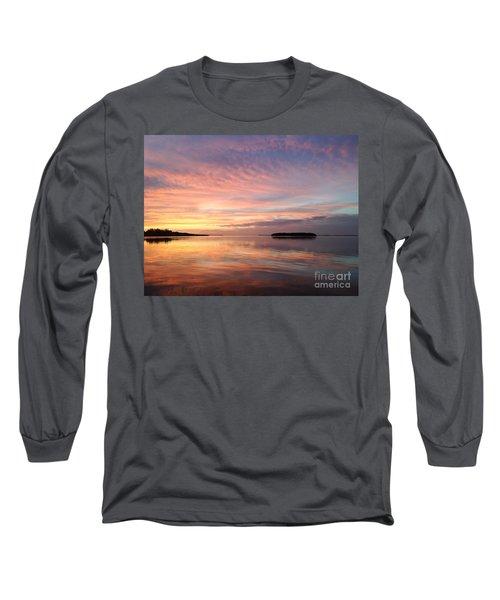 Celebrating Sunset In Key Largo Long Sleeve T-Shirt