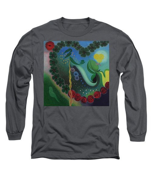 Long Sleeve T-Shirt featuring the painting Celebration Of Love  by Tone Aanderaa