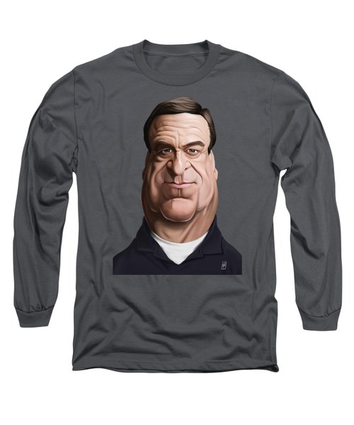 Long Sleeve T-Shirt featuring the drawing Celebrity Sunday - John Goodman by Rob Snow