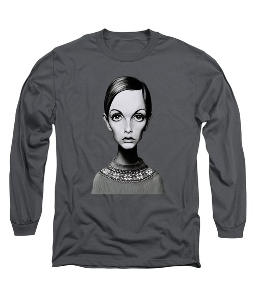 Celebrity Sunday - Twiggy Long Sleeve T-Shirt by Rob Snow