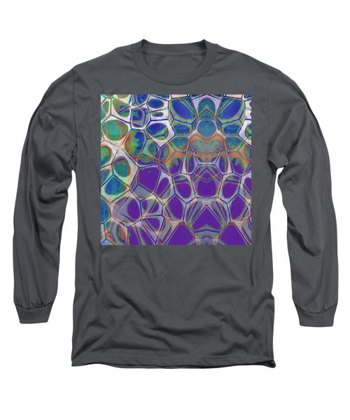 Cell Abstract 17 Long Sleeve T-Shirt by Edward Fielding