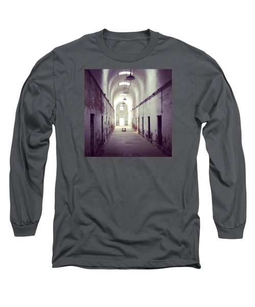 Cell Block Eastern State Penitentiary Long Sleeve T-Shirt by Sharon Halteman