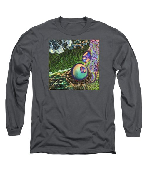Cell Interior Microbiology Landscapes Series Long Sleeve T-Shirt by Emily McLaughlin