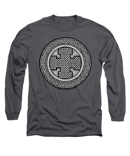 Long Sleeve T-Shirt featuring the mixed media Celtic Cross by Kristen Fox