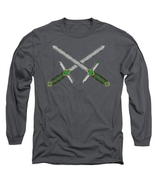 Celtic Daggers Long Sleeve T-Shirt by Kristen Fox