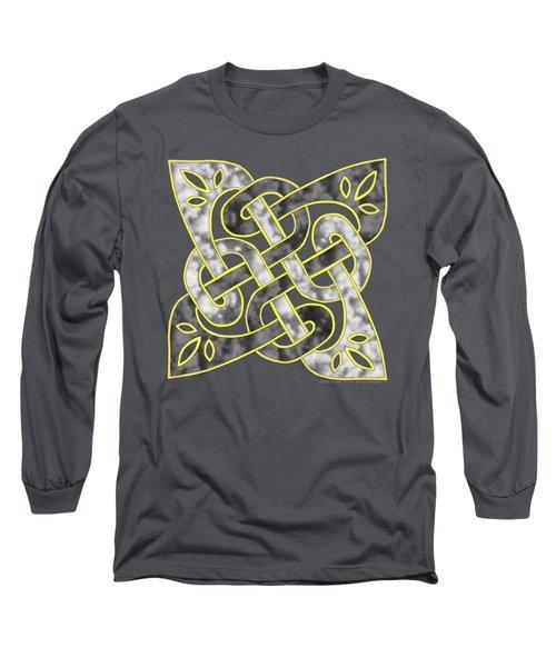 Long Sleeve T-Shirt featuring the mixed media Celtic Dark Sigil by Kristen Fox