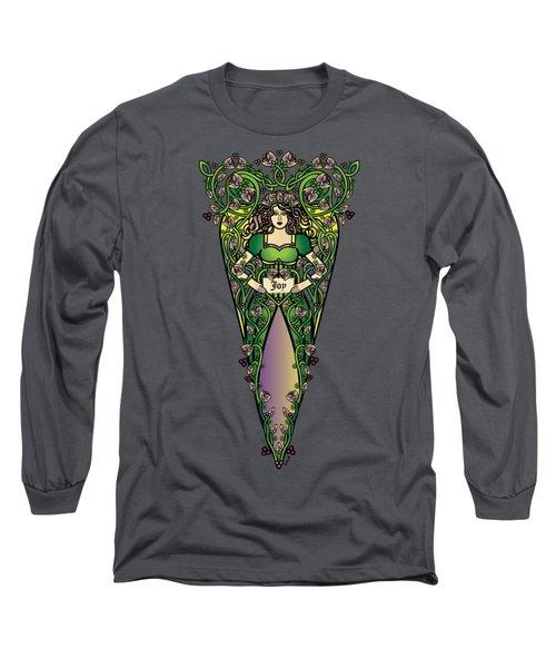 Celtic Forest Fairy - Joy Long Sleeve T-Shirt