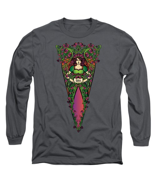 Celtic Forest Fairy - Wit Long Sleeve T-Shirt