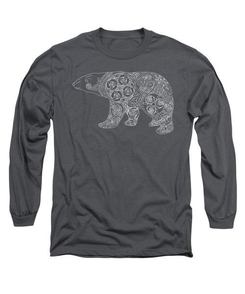Celtic Polar Bear Long Sleeve T-Shirt by Kristen Fox