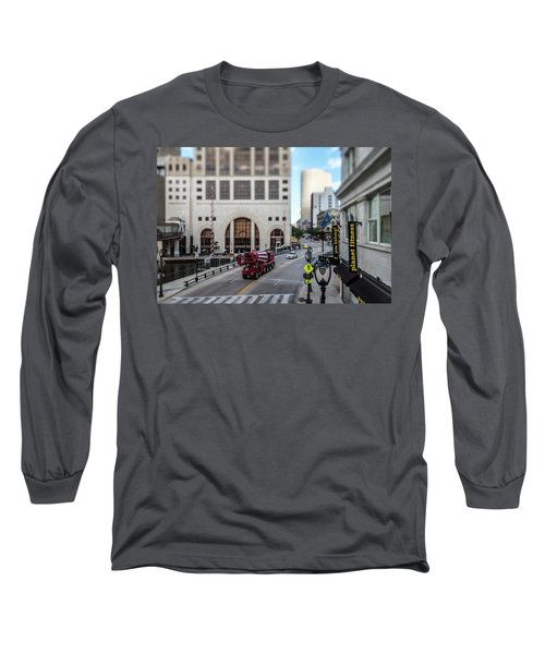 Cement Truck In The Itty-bitty-city Long Sleeve T-Shirt