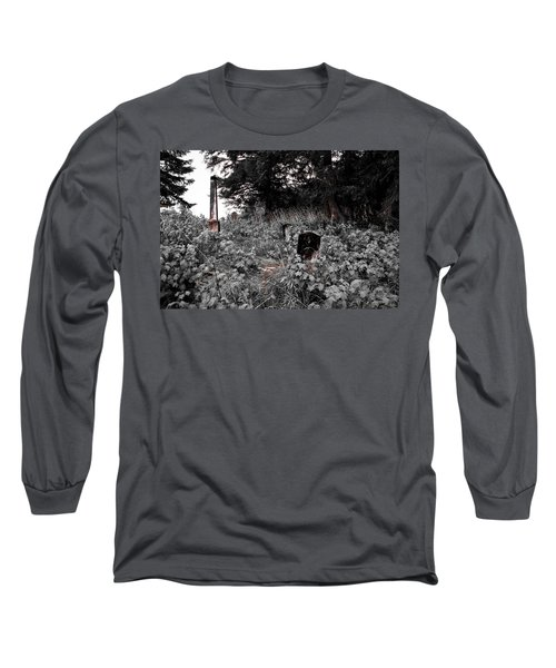 Cemetery In Red Long Sleeve T-Shirt