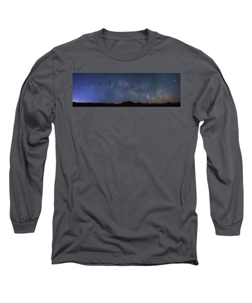 Center Of The Milky Way Over The Badlands Long Sleeve T-Shirt