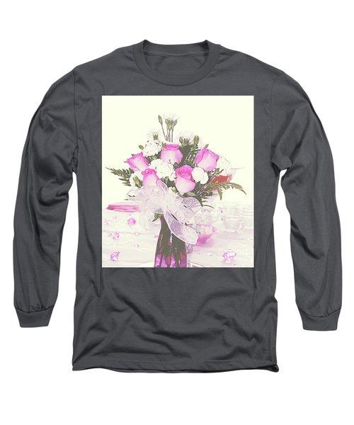 Centerpiece Long Sleeve T-Shirt by Inspirational Photo Creations Audrey Woods
