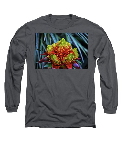 Long Sleeve T-Shirt featuring the photograph Centerpiece - Bromeliad 005 by George Bostian