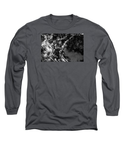 Long Sleeve T-Shirt featuring the photograph Central Park Trails by M G Whittingham