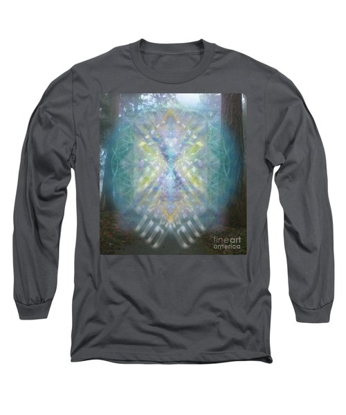 Chalice-tree Spirit In The Forest V1 Long Sleeve T-Shirt by Christopher Pringer