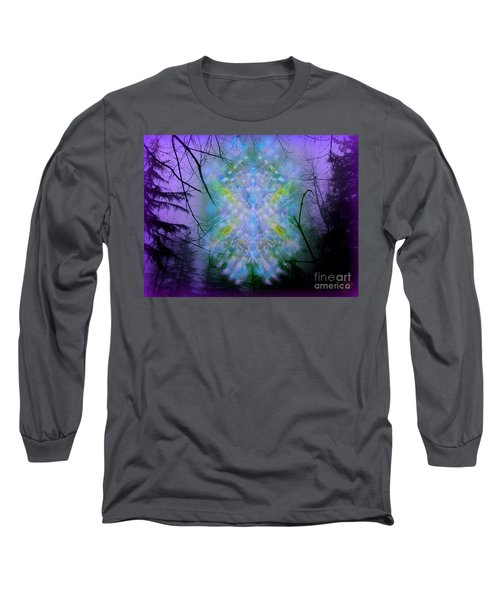 Chalice-tree Spirit In The Forest V1a Long Sleeve T-Shirt by Christopher Pringer