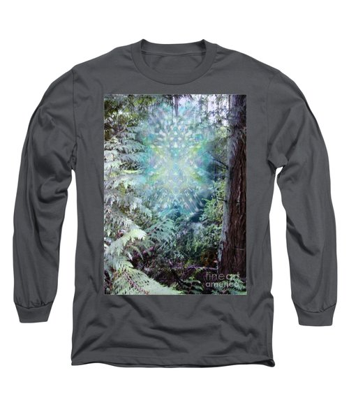Chalice-tree Spirit In The Forest V3 Long Sleeve T-Shirt by Christopher Pringer