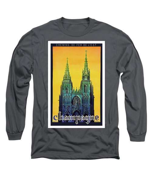 Champagne, Reims, Cathedral, France Long Sleeve T-Shirt