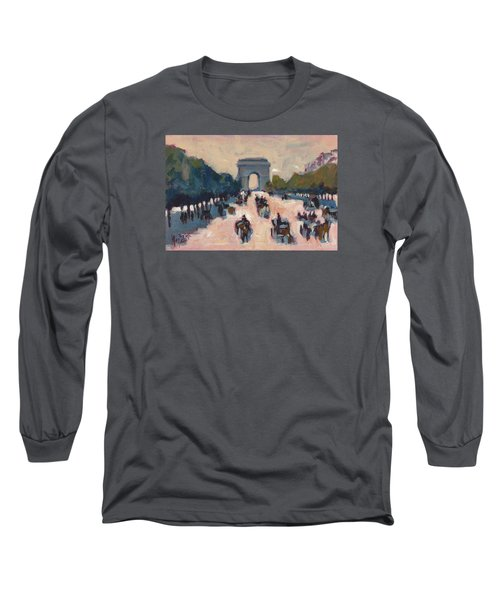 Champs Elysees Paris Long Sleeve T-Shirt by Nop Briex