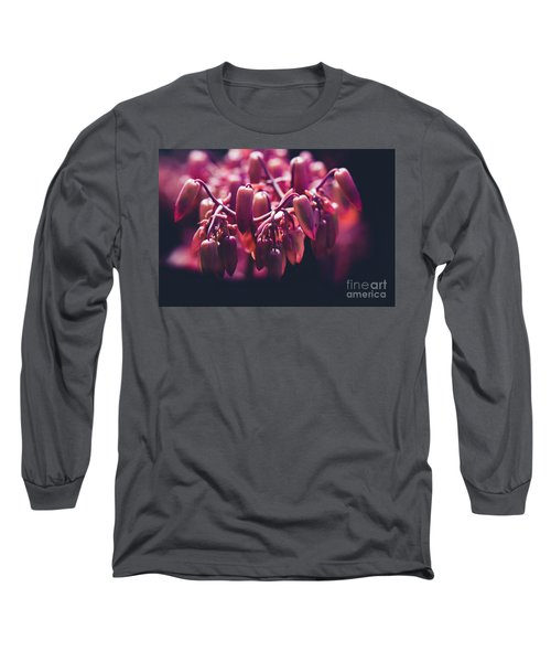 Long Sleeve T-Shirt featuring the photograph Chandelier Plant Kalanchoe - A Solitary Morning by Sharon Mau