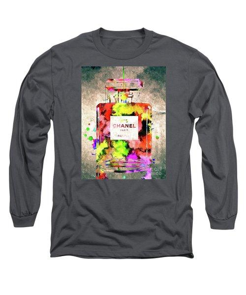 Chanel No 5 Long Sleeve T-Shirt by Daniel Janda