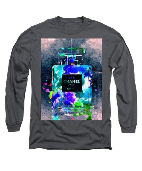 Chanel No 5 Dark Grunge Long Sleeve T-Shirt by Daniel Janda