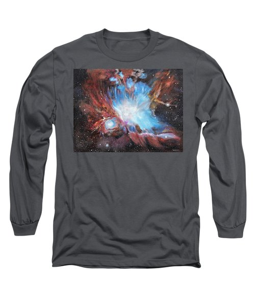 Chaos In Orion Long Sleeve T-Shirt by Ken Ahlering