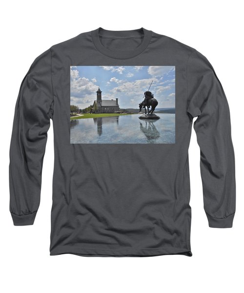 Chapel And Infinity Pool Long Sleeve T-Shirt by Julie Grace