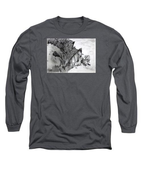 Charcoal Sea Rocks Long Sleeve T-Shirt