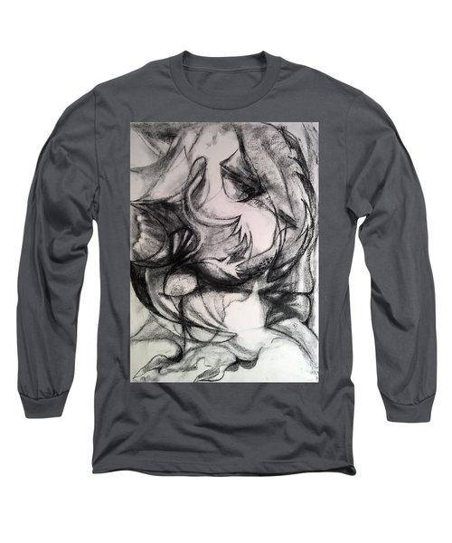 Charcoal Study Long Sleeve T-Shirt