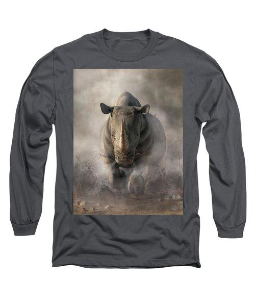 Charging Rhino Long Sleeve T-Shirt