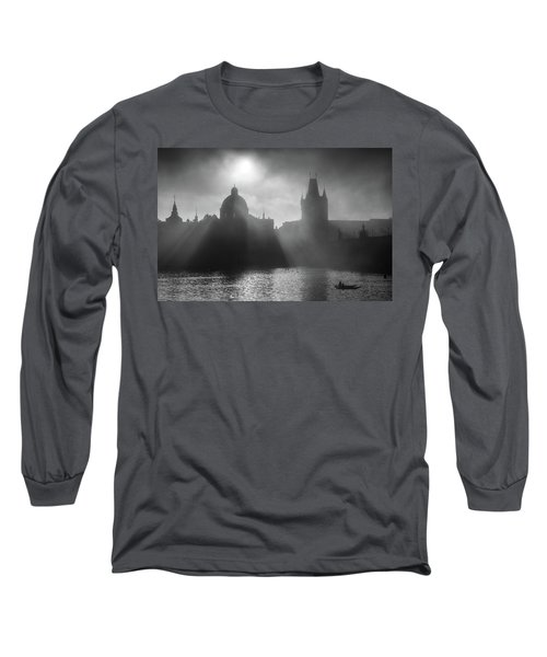 Charles Bridge Towers, Prague, Czech Republic Long Sleeve T-Shirt