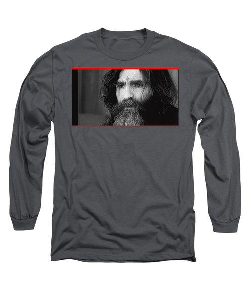 Charles Manson Screen Capture Circa 1970-2015 Long Sleeve T-Shirt