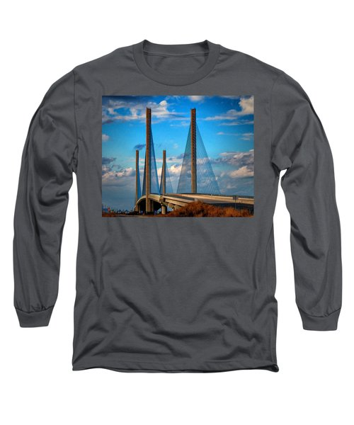 Charles W Cullen Bridge South Approach Long Sleeve T-Shirt