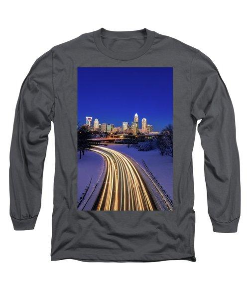 Charlotte Winter Skyline Long Sleeve T-Shirt