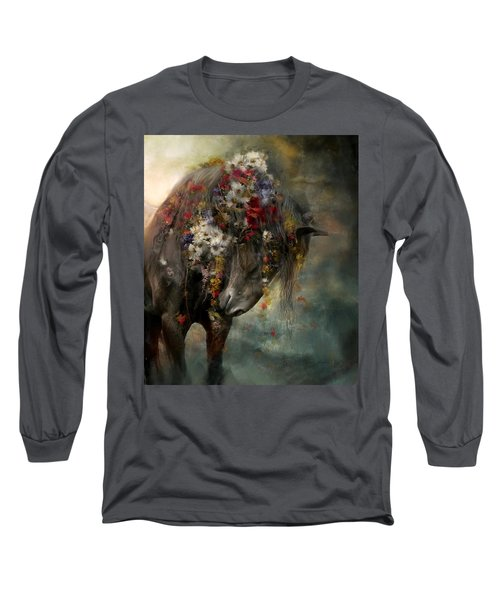 Long Sleeve T-Shirt featuring the painting Charmer  by Dorota Kudyba