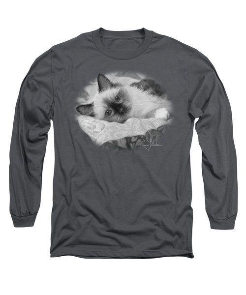 Charming - Black And White Long Sleeve T-Shirt