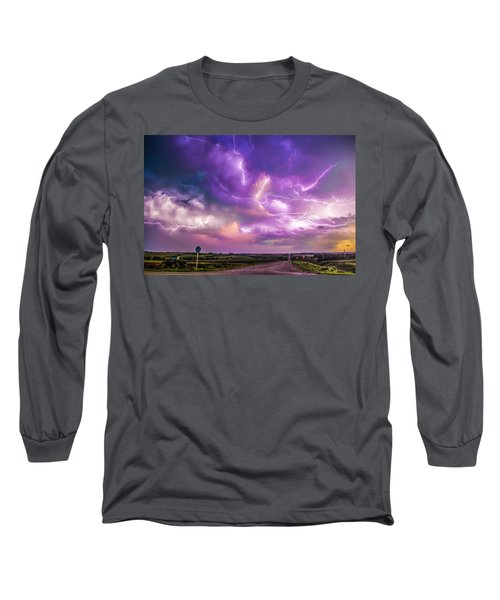 Chasing Nebraska Lightning 056 Long Sleeve T-Shirt