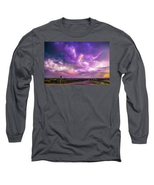 Chasing Nebraska Lightning 056 Long Sleeve T-Shirt