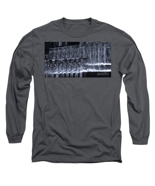 Chasing Waterfalls - Blue Long Sleeve T-Shirt by Linda Shafer