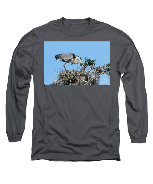 Long Sleeve T-Shirt featuring the photograph Checking The Eggs by Deborah Benoit