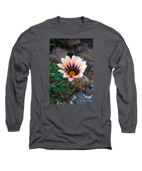 Cheerful Flower Long Sleeve T-Shirt by Debra Thompson