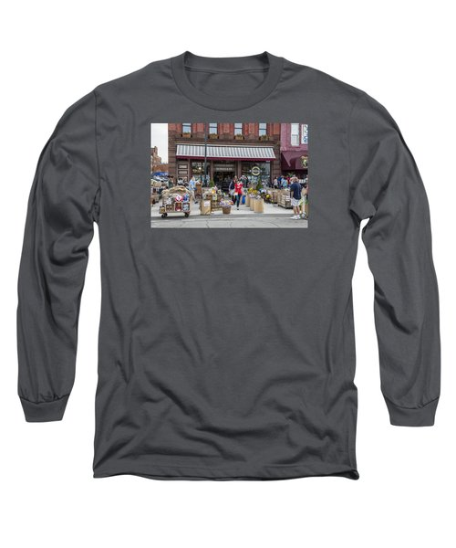Cheese Shop In Detroit  Long Sleeve T-Shirt by John McGraw