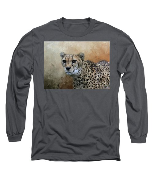 Cheetah Portrait Long Sleeve T-Shirt
