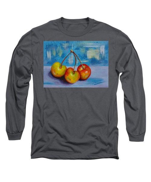 Cherries Trio Long Sleeve T-Shirt by Janet Garcia